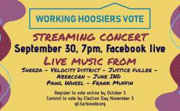 June IND teams up with area musicians and Working Hoosiers Vote for streaming concert, voter registration drive